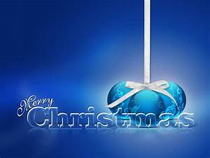 Beautiful Love Blue Merry Christmas Background High