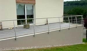 Garde Corps Terrasse Inox : rampe inox et garde corps metal concept escalier ferronnerie d 39 art alsace ferronnier ~ Melissatoandfro.com Idées de Décoration