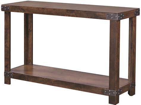 aspenhome industrial dn tob sofa table  shelf