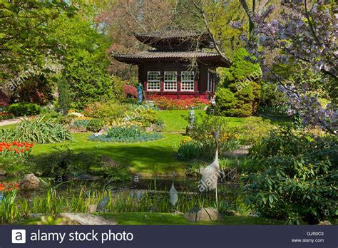 Japanischer Garten Leverkusen Cafe by Bl 252 Te Stock Photos Bl 252 Te Stock Images Alamy