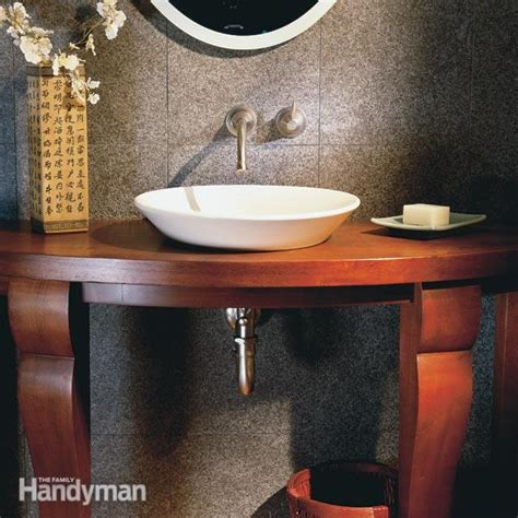 elegant small bathroom  family handyman