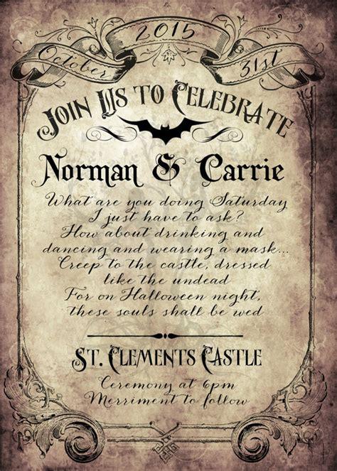 spooktacular halloween wedding invitations glitter  spice