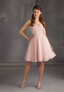 Short Luxe Chiffon Morilee Bridesmaid Dress With Draped