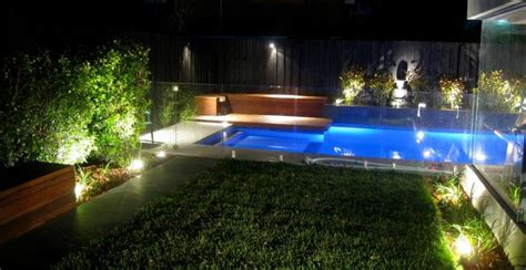 outdoor lighting ideas  pool  mini lake