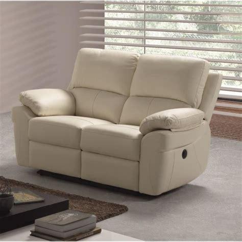 canape relax 2 places corcega canapé droit de relaxation en cuir 2 places