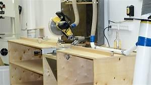 Building a miter saw workbench / Изготовление стола для