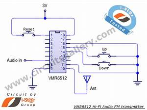 Simple Fm Transmitter Circuit Schematic Long Range  Short Range Using Vmr6512 Hi