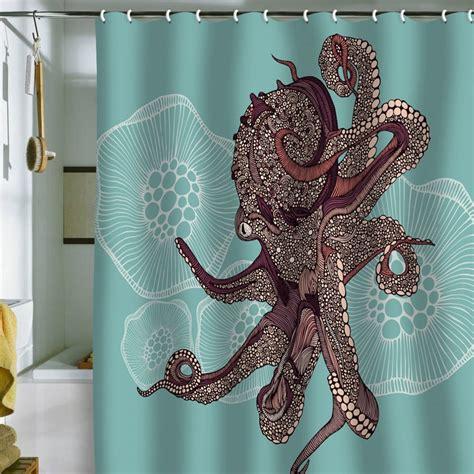 valentina ramos octopus bloom shower curtain