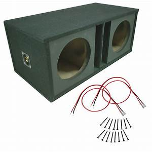 Car Stereo Dual 12 U0026quot  Ported Paintable Mdf Subwoofer Box