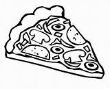 Pizza Coloring Slice Bestcoloringpagesforkids sketch template