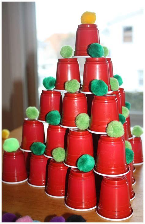 plastic cups christmas tree stem ideas engineering trees