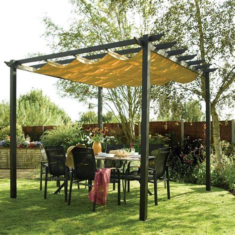 patio gazebo canopy rowlinson aluminium framed canopy pergola