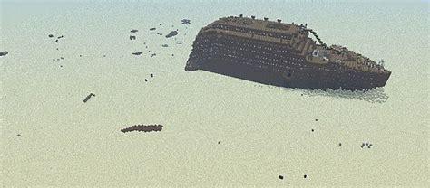 Minecraft Titanic Sinking Map Titanic Wreck Minecraft Project