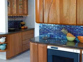 Best Backsplash For Kitchen Blue Tiles Kitchen Backsplash With Wooden Cabinets And Black Counter Top Artenzo