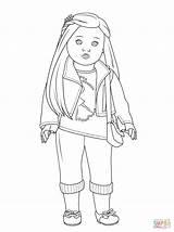 Isabelle Colorir Desenhos Coloring Doll American sketch template