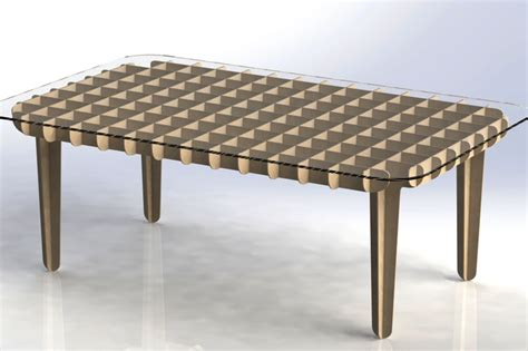 flat pack table flat pack coffee table autocad solidworks other 3d cad model grabcad
