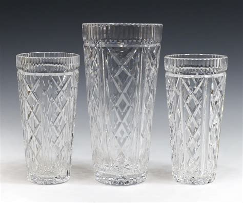 waterford crystal table ls 3 waterford cut crystal cabinet table vases special
