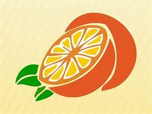 Sliced, Orange, Vector, Art, U0026, Graphics