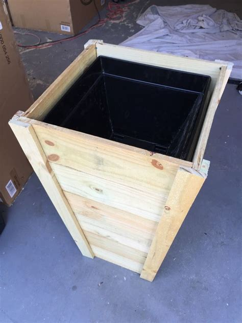 build   tall outdoor planter boxes tall