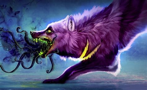 Beast Scary Wolf Wallpaper by Quot Wolf Wolf Purple Wolf Scary Wolf
