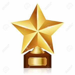 Gold star award clipart