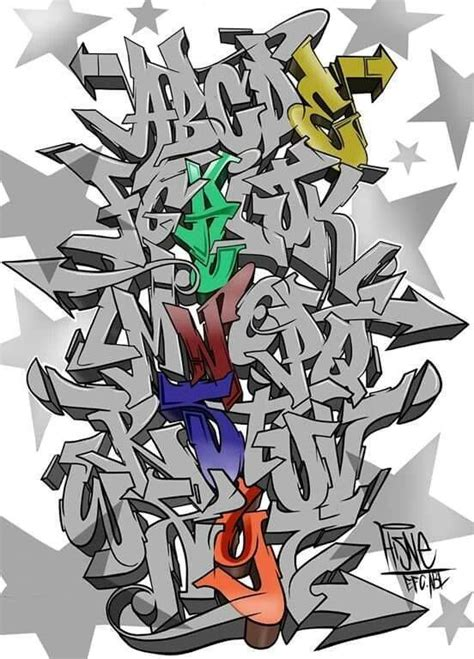 dibujar abecedario o letras en graffiti 2 Graffiti Arte