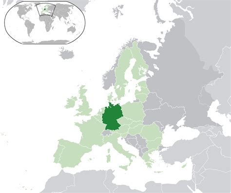 Create your own custom map of germany. Location of the Germany in the World Map