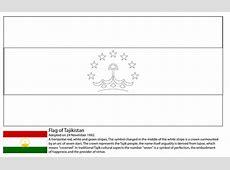 Ausmalbild Flagge von Tadschikistan Ausmalbilder