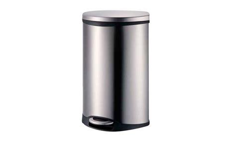 50-liter Large Stainless Steel Trash Bin
