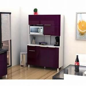 Cuisine Couleur Aubergine : lova buffet de cuisine 120 cm aubergine haute brillance ~ Premium-room.com Idées de Décoration