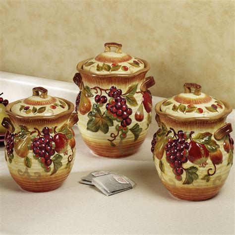 Wine Kitchen Canisters by Tuscan Style Dish Set Kitchen Canisters Iron Furniture