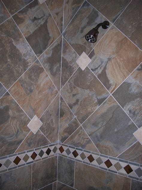 Slate Tile Bathroom Designs by Slate Tile Shower Layout Bathrooms Bathroom