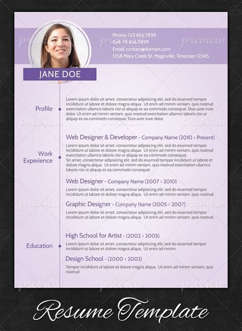 11931 modern resume template a clearly feminine design that is still simply but