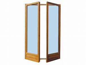 Porte Fenetre Bois 2 Vantaux : porte fen tre 2 vantaux en bois exotique h205 x l100 cm ~ Dode.kayakingforconservation.com Idées de Décoration