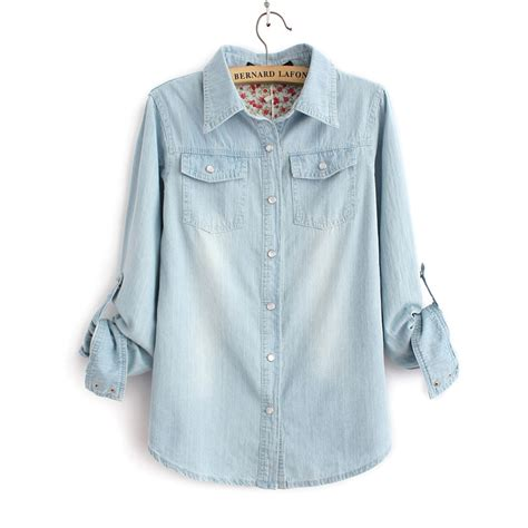 light blue denim shirt light blue denim shirt with two pockets casual jeans