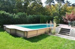 piscine hors sol bois rectangulaire With piscine hors sol bois rectangulaire 3m 1 amenagement deco pour une piscine hors sol
