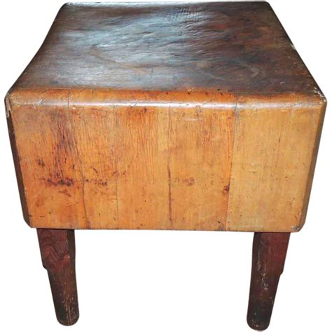 chopping block kitchen island antique primitive maple butcher block table from