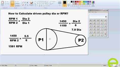 calculate driven pulley   rpm urdu hindi youtube
