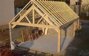 Garage Ossature Bois : garage 2 places en ossature bois et charpente ~ Melissatoandfro.com Idées de Décoration