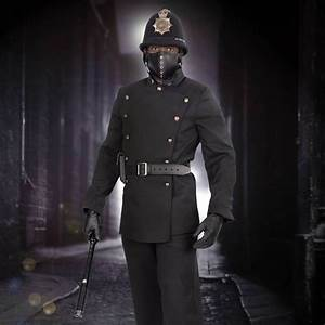 British Police Black Uniform Coat Elite Steampunk ...