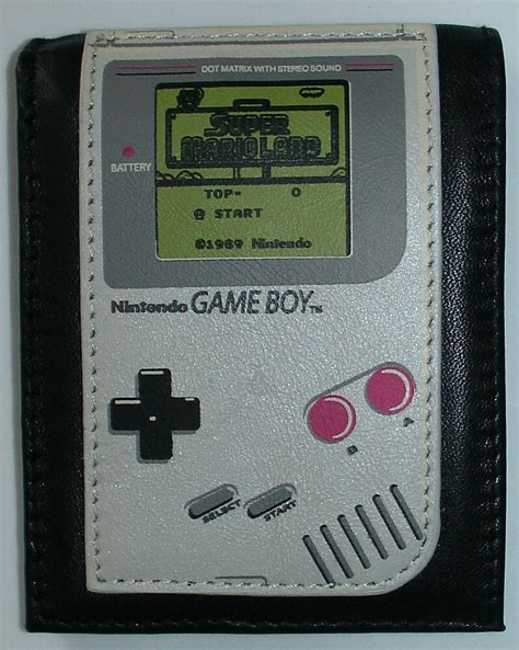Original Nintendo Leather Game Boy Wallet Great Color
