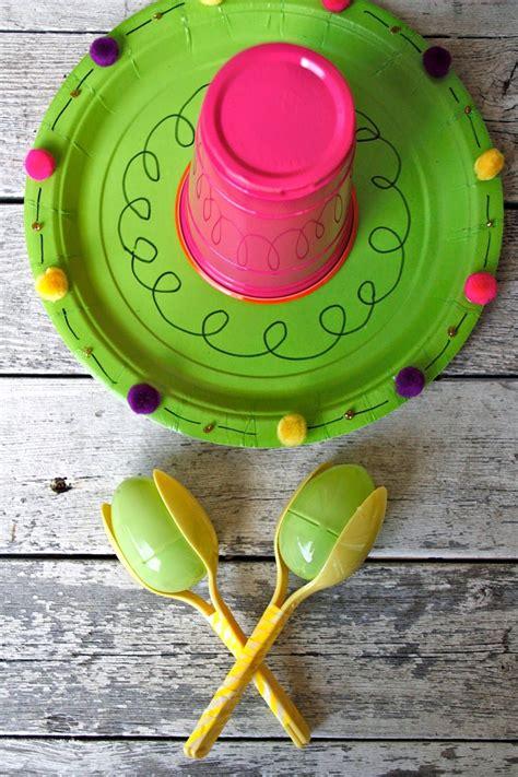 paper plate sombrero  easter egg maracas  cinco de