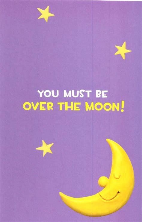 moon congratulations greeting card