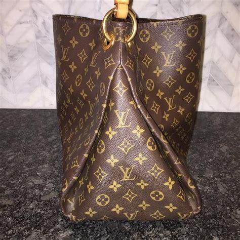 louis vuitton shoulder artsy mm monogram braided strap work tote brown canvas hobo bag tradesy