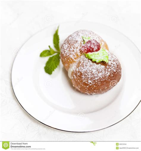 homemade italian peach cookies stock images image