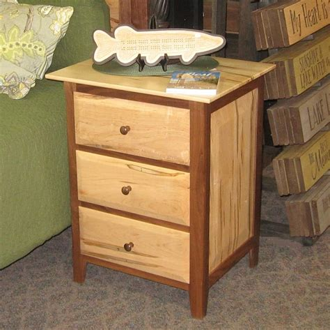 Maple Nightstands With Drawers by Worthington 3 Drawer Nightstand Shown In Wormy Maple And