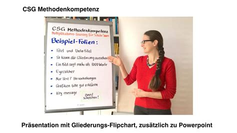 praesentation mit extra gliederungs flipchart youtube