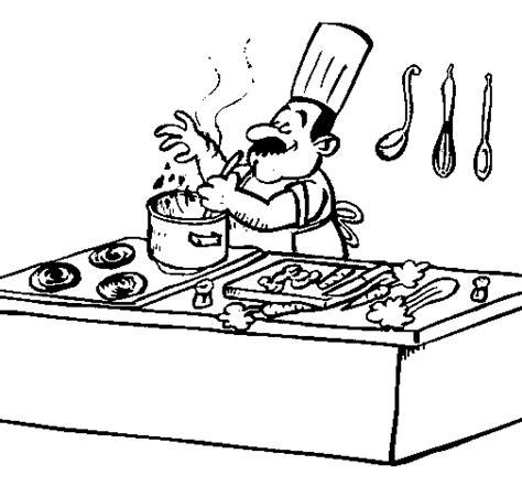 dessin pour cuisine coloriage de cuisinier dans la cuisine pour colorier