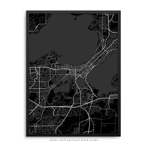 madison wisconsin poster city map decor