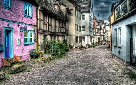 Old Street In The City Hd Desktop Wallpaper  Hd Desktop